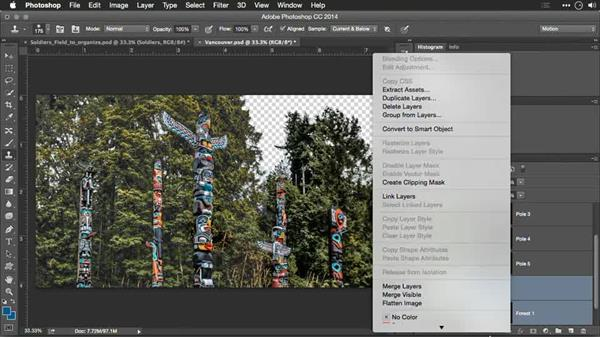 Final preparation and using Smart Objects to organize: Motion Control 3D: Bringing Your Photos to Life in Three Dimensions with Photoshop and After Effects CC