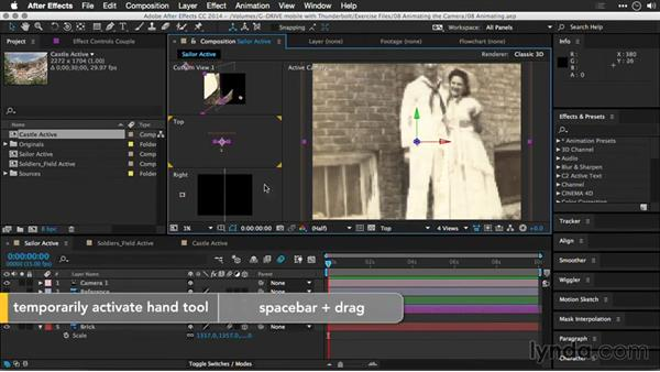 Using multiple views: Motion Control 3D: Bringing Your Photos to Life in Three Dimensions with Photoshop and After Effects CC