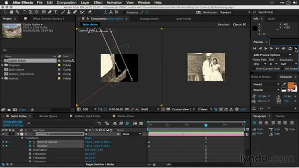Understanding keyframes: Motion Control 3D: Bringing Your Photos to Life in Three Dimensions with Photoshop and After Effects CC