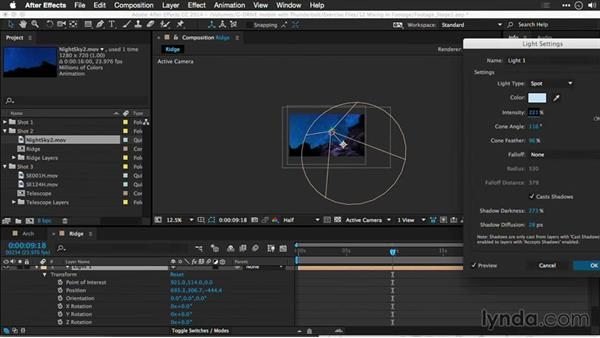 Using a 3D light to mix time-lapse layers: Motion Control 3D: Bringing Your Photos to Life in Three Dimensions with Photoshop and After Effects CC