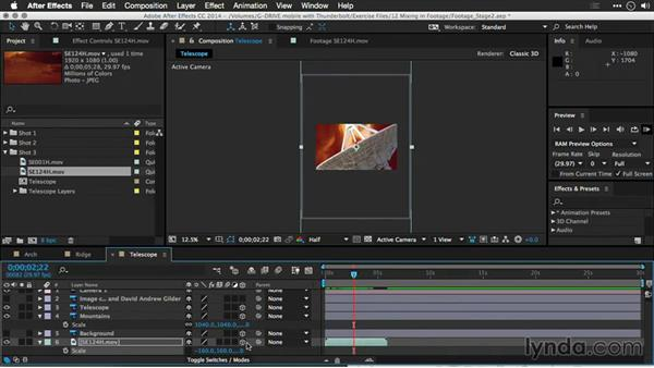 Setting up for time remapping: Motion Control 3D: Bringing Your Photos to Life in Three Dimensions with Photoshop and After Effects CC