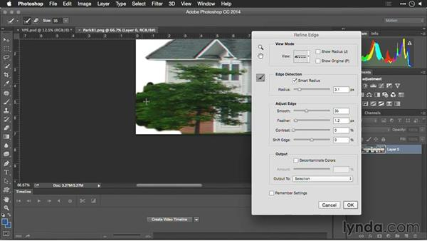 Cleaning up the files and transparency: Motion Control 3D: Bringing Your Photos to Life in Three Dimensions with Photoshop and After Effects CC