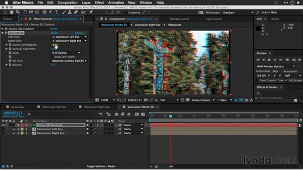 Changing the 3D method used: Motion Control 3D: Bringing Your Photos to Life in Three Dimensions with Photoshop and After Effects CC