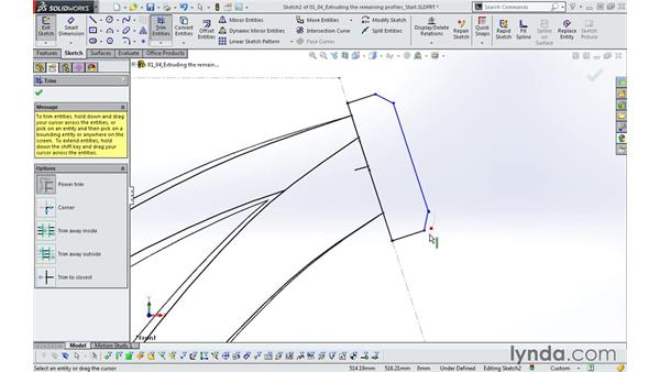 Extruding the remaining profiles: Modeling a Bicycle Frame with SOLIDWORKS