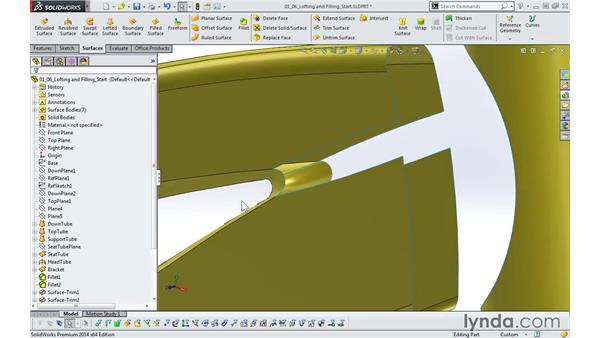 Lofting and filling: Modeling a Bicycle Frame with SOLIDWORKS