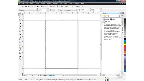 Creating multi-page projects: CorelDRAW X4 Essential Training
