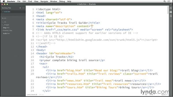 Working with meta tags: HTML5: Structure, Syntax, and Semantics