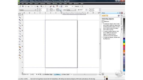 Modifying page layout: CorelDRAW X4 Essential Training