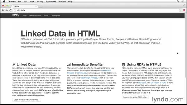 Introducing microformats, microdata, and RDFa: HTML5: Structure, Syntax, and Semantics