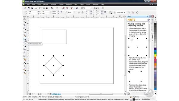 Drawing basic shapes: CorelDRAW X4 Essential Training