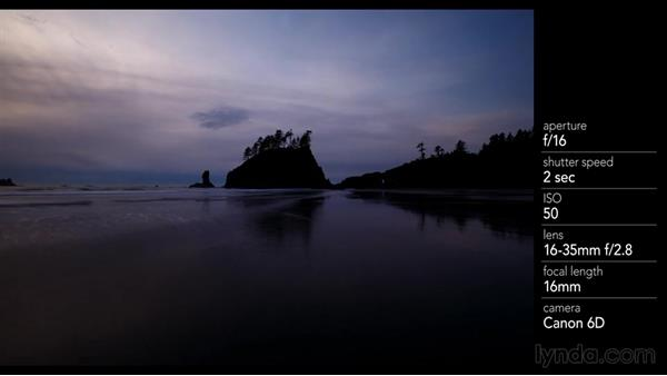 Using a neutral-density filter to get a silky ocean-wave image: Landscape Photography: Washington's Olympic National Park