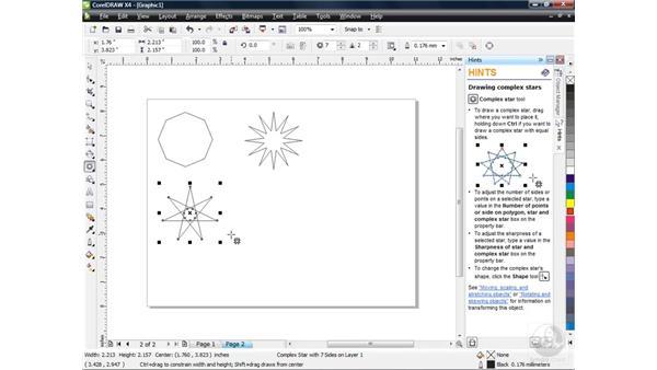 Drawing more advanced shapes: CorelDRAW X4 Essential Training