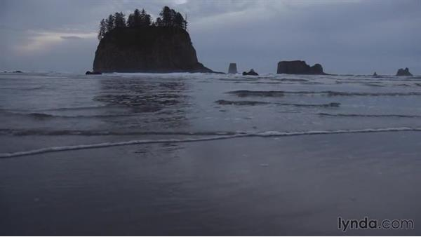 Shooting the sea stacks from within the water: Landscape Photography: Washington's Olympic National Park