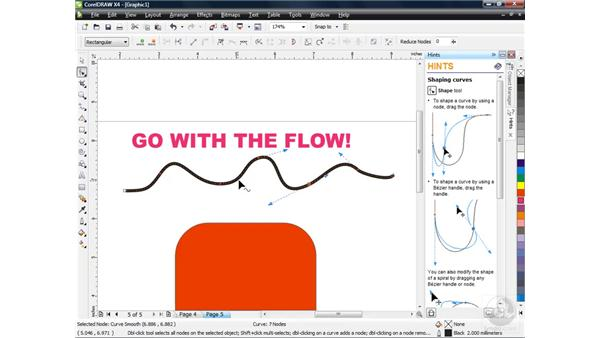 Node editing with the Shape tool: CorelDRAW X4 Essential Training