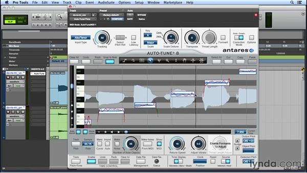 Using Note objects to control pitch quickly: Up and Running with Auto-Tune 8