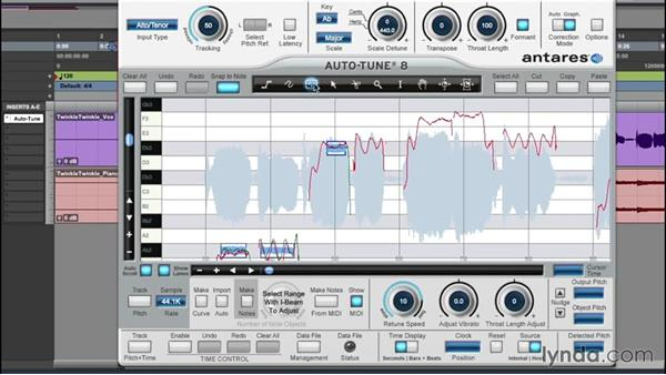 Graphic mode in depth: Multiple-tool workflow: Up and Running with Auto-Tune 8