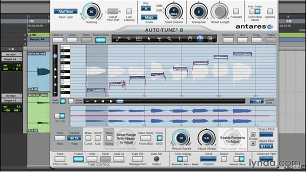 Controlling timing with Graphical mode: Up and Running with Auto-Tune 8