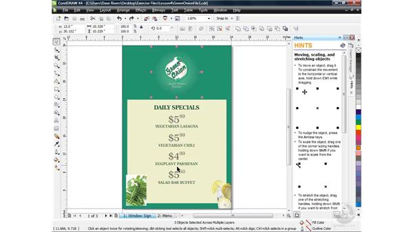 Selecting and deleting objects: CorelDRAW X4 Essential Training