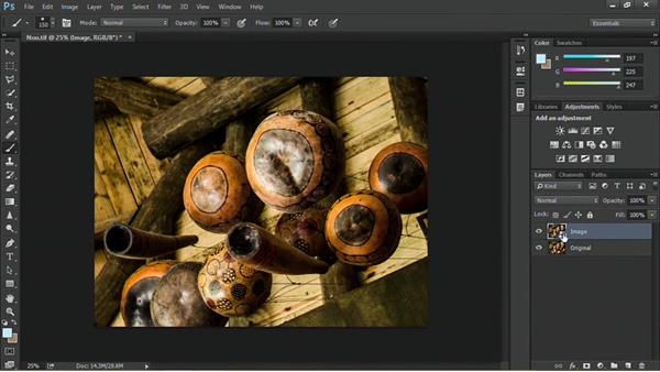 Converting layers to Smart Objects: Nondestructive Exposure and Color Correction with Photoshop CC (2014)
