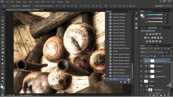 Creating a new document from the current state: Nondestructive Exposure and Color Correction with Photoshop CC (2014)