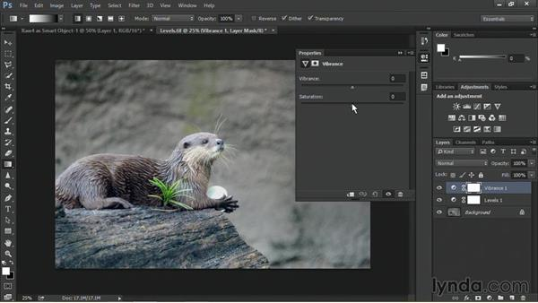 Fixing exposure with a levels adjustment: Nondestructive Exposure and Color Correction with Photoshop CC (2014)