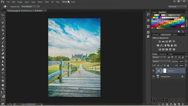 Refining curves using the on-image tool: Nondestructive Exposure and Color Correction with Photoshop CC (2014)