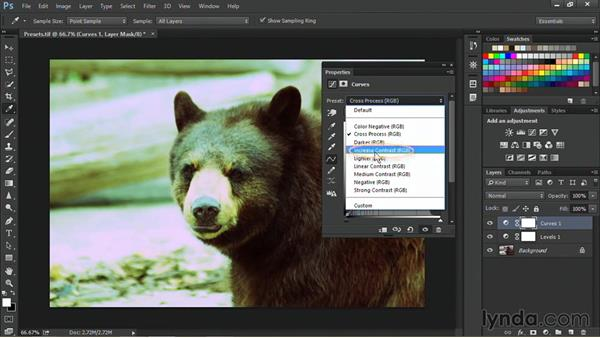 Using adjustment presets: Nondestructive Exposure and Color Correction with Photoshop CC (2014)