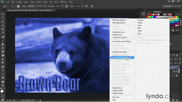 Clipping adjustment layers: Nondestructive Exposure and Color Correction with Photoshop CC (2014)