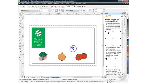 Grouping and ungrouping multiple objects: CorelDRAW X4 Essential Training