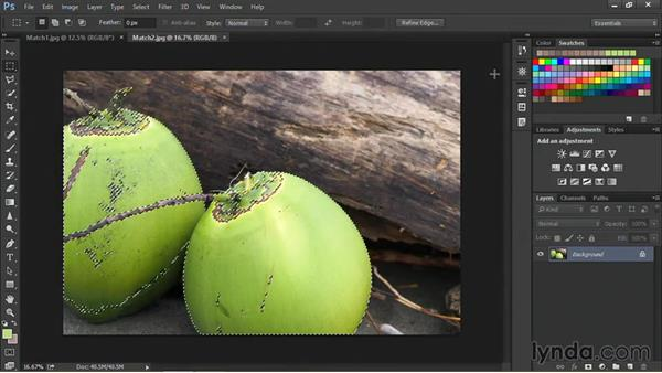 Using Match Color with two photos: Nondestructive Exposure and Color Correction with Photoshop CC (2014)