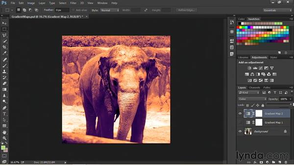 Tinting with the gradient map: Nondestructive Exposure and Color Correction with Photoshop CC (2014)