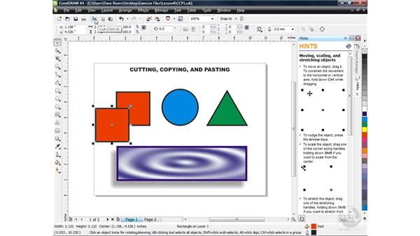 Cutting and copying objects: CorelDRAW X4 Essential Training