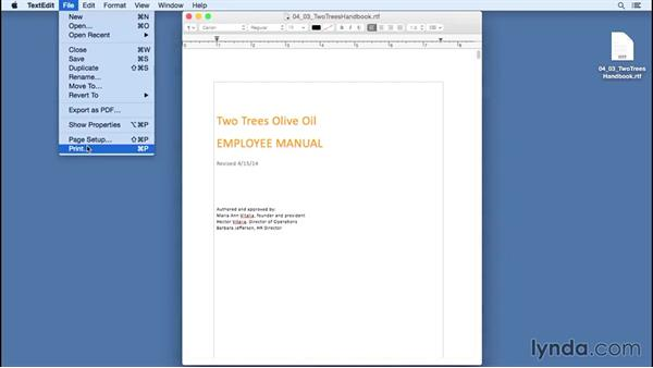 Print your documents: Computer Literacy for Mac