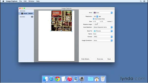 Scanning a document: Computer Literacy for Mac