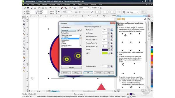 Coloring object outlines: CorelDRAW X4 Essential Training