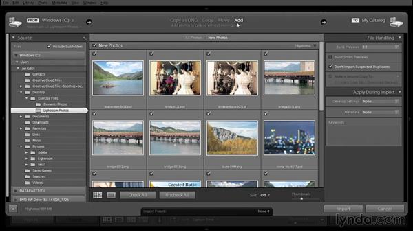 Importing exercise files into Lightroom: Using Lightroom and Photoshop Elements Together