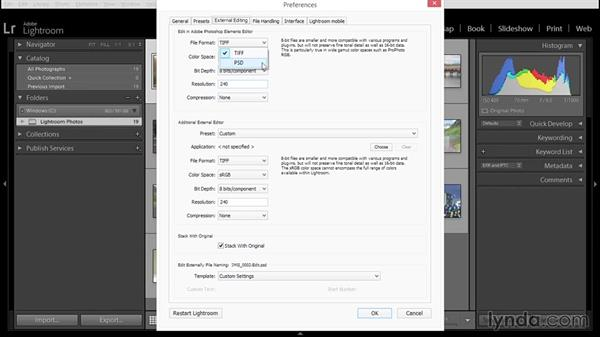 Setting up Lightroom's primary external editing preferences for Elements: Using Lightroom and Photoshop Elements Together