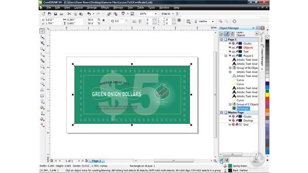 Creating layers: CorelDRAW X4 Essential Training