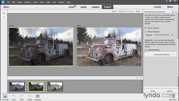 Completing the bracketed exposure: Using Lightroom and Photoshop Elements Together