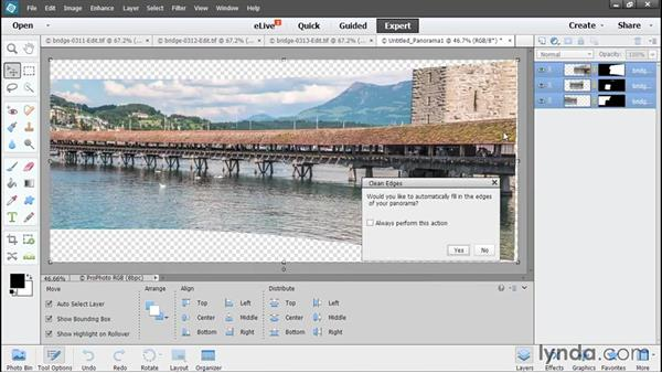 Stitching a panorama: Using Lightroom and Photoshop Elements Together