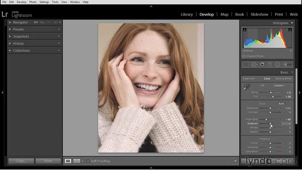 Beginning a portrait retouch in Lightroom: Using Lightroom and Photoshop Elements Together