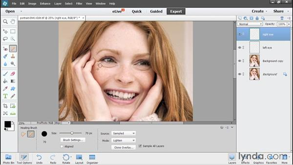 Performing additional retouching in Elements: Using Lightroom and Photoshop Elements Together