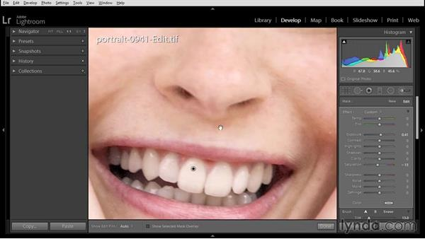 Finishing the retouching in Lightroom: Using Lightroom and Photoshop Elements Together