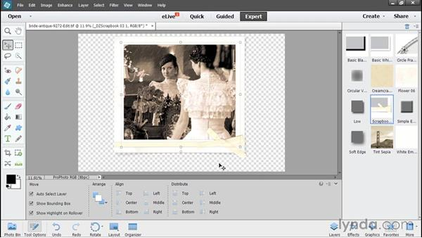 Adding text and graphics: Using Lightroom and Photoshop Elements Together
