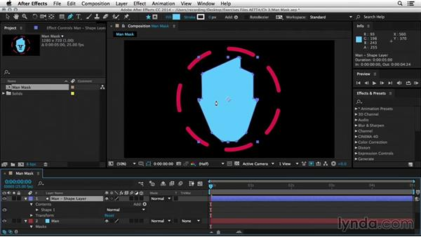 Converting masks to shapes: After Effects Tips and Techniques: Shapes, Text, Masks, and Path Effects