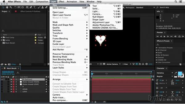 Morphing between masks: After Effects Tips and Techniques: Shapes, Text, Masks, and Path Effects
