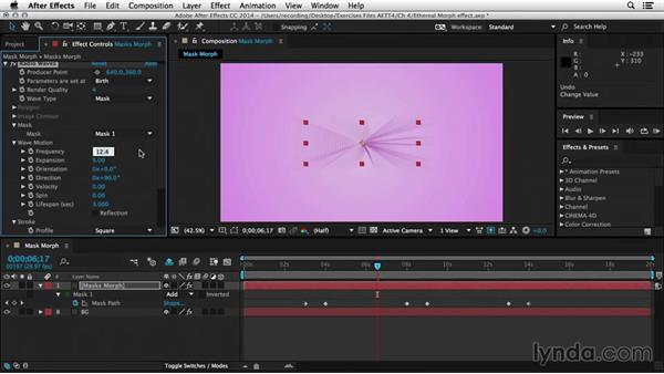 Creating an ethereal morph effect: After Effects Tips and Techniques: Shapes, Text, Masks, and Path Effects