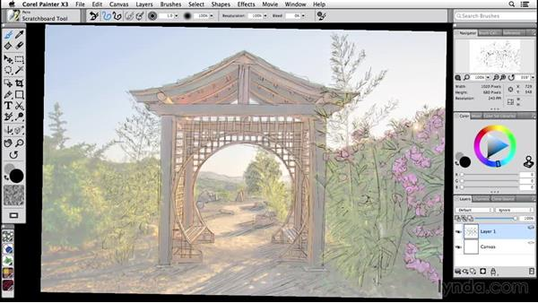 Working with a pen tablet: Painter 2015 Essential Training