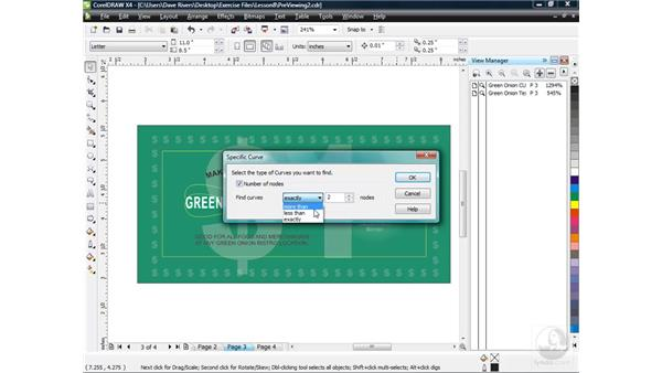 Finding and replacing text and objects: CorelDRAW X4 Essential Training