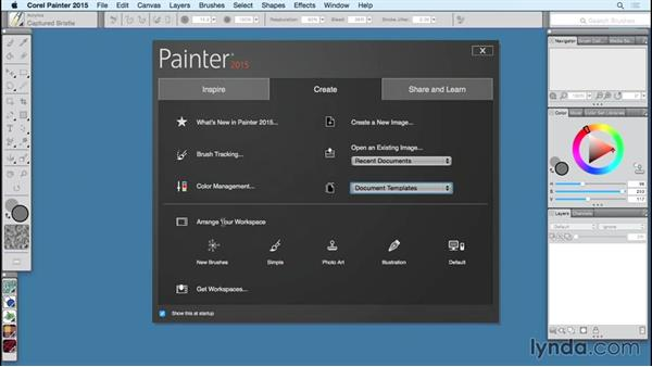 Starting Painter 2015 for the first time: Painter 2015 Essential Training